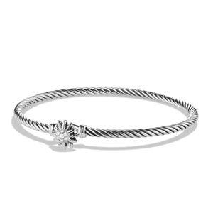 David Yurman starburst bracelet silver and diamond